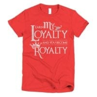 Scorpio loyalty is royalty short sleeve women's t-shirt